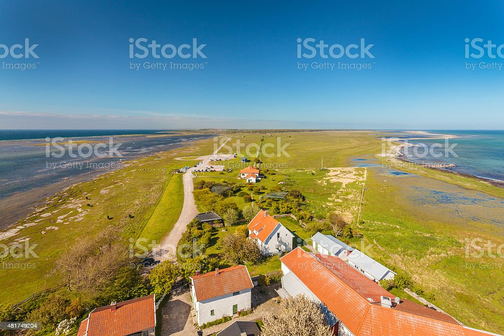 Aerial view of South Oland in Sweden stock photo