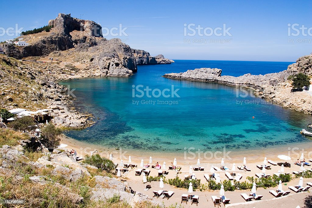 Aerial view of St. Paul's Bay in Malta stock photo