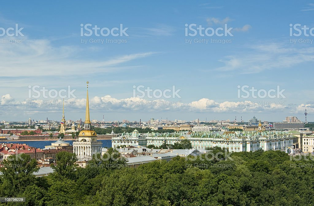 Aerial view of St.Petersburg stock photo
