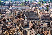 Aerial view of Strasbourg