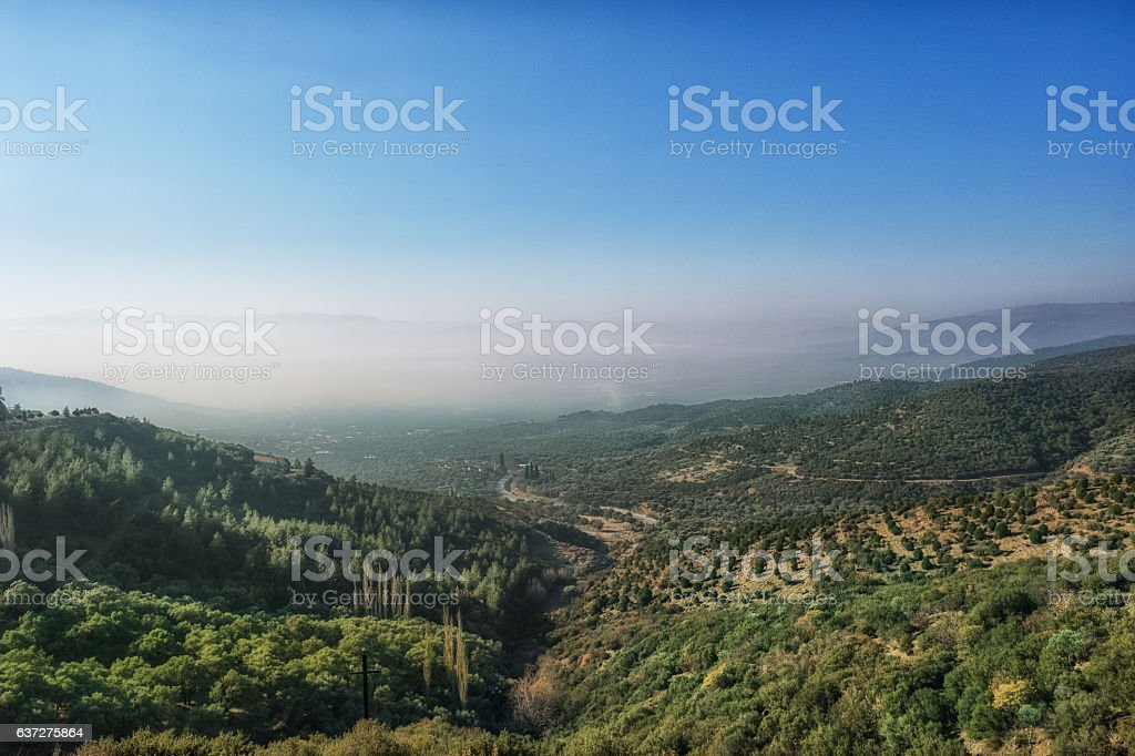 Aerial view of stunning landscape stock photo