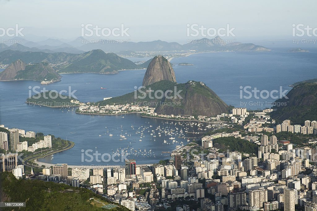 aerial view of Sugar Loaf royalty-free stock photo