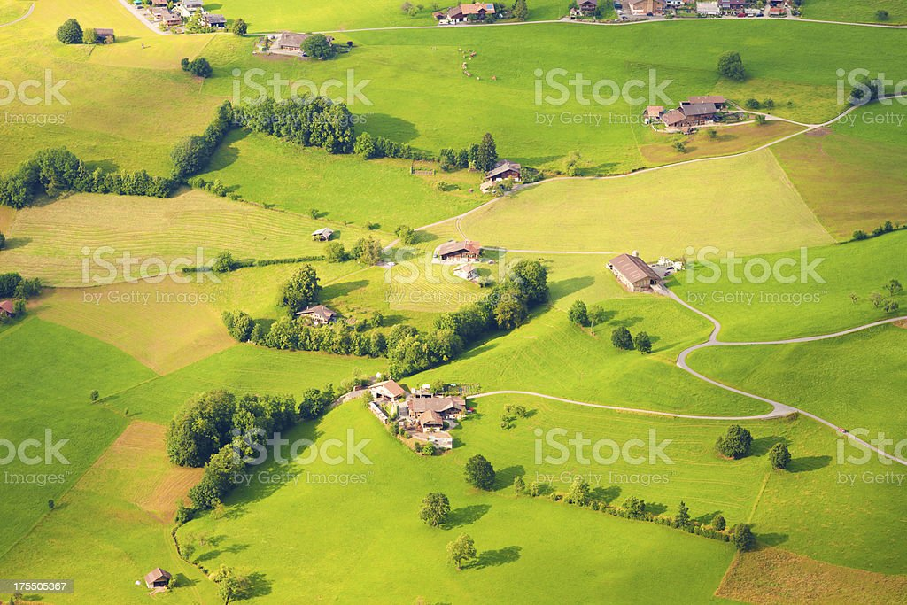 aerial view of switzerland royalty-free stock photo