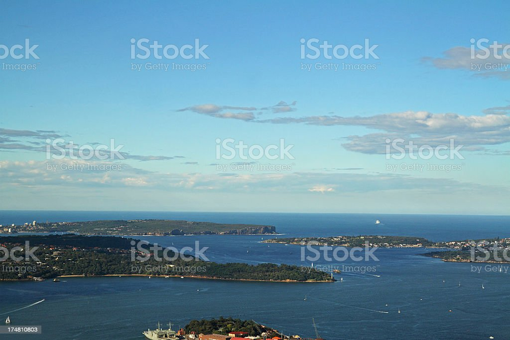 Aerial view of Sydney Bay royalty-free stock photo