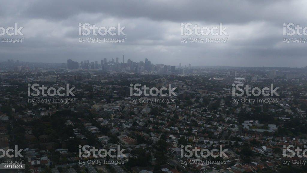Aerial View of Sydney CBD 4k stock photo