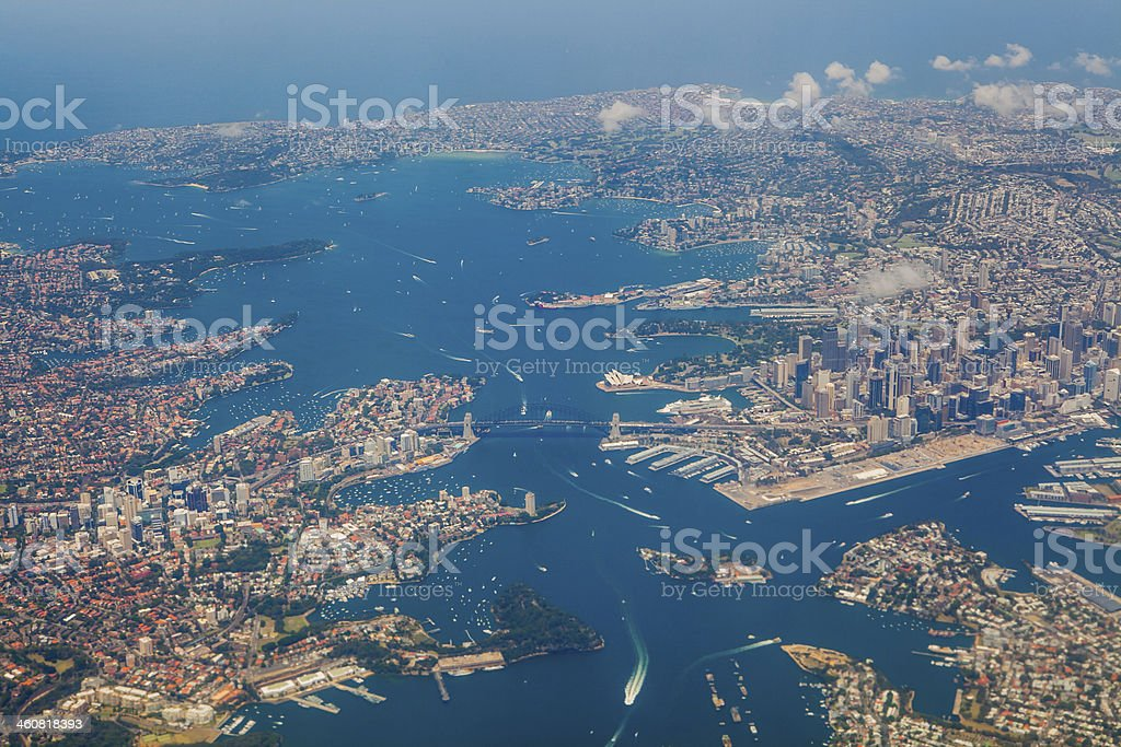 Aerial View of Sydney stock photo