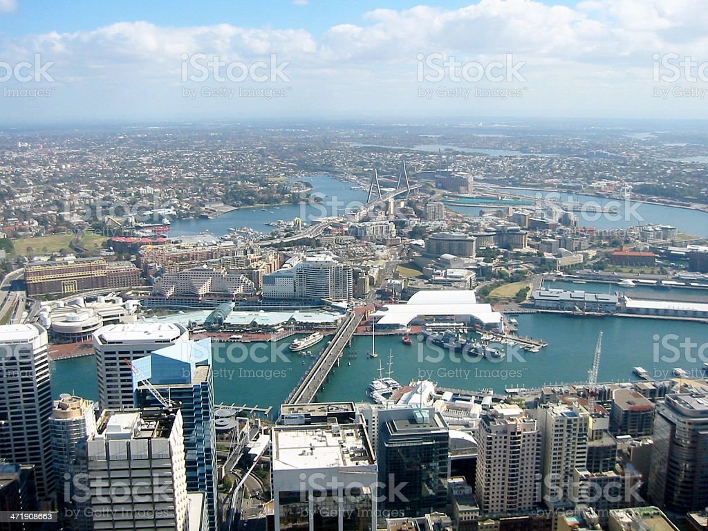 Aerial view of Sydney,Australia royalty-free stock photo