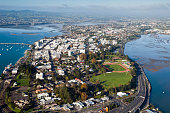 Aerial view of Tauranga City and Harbour, New Zealand