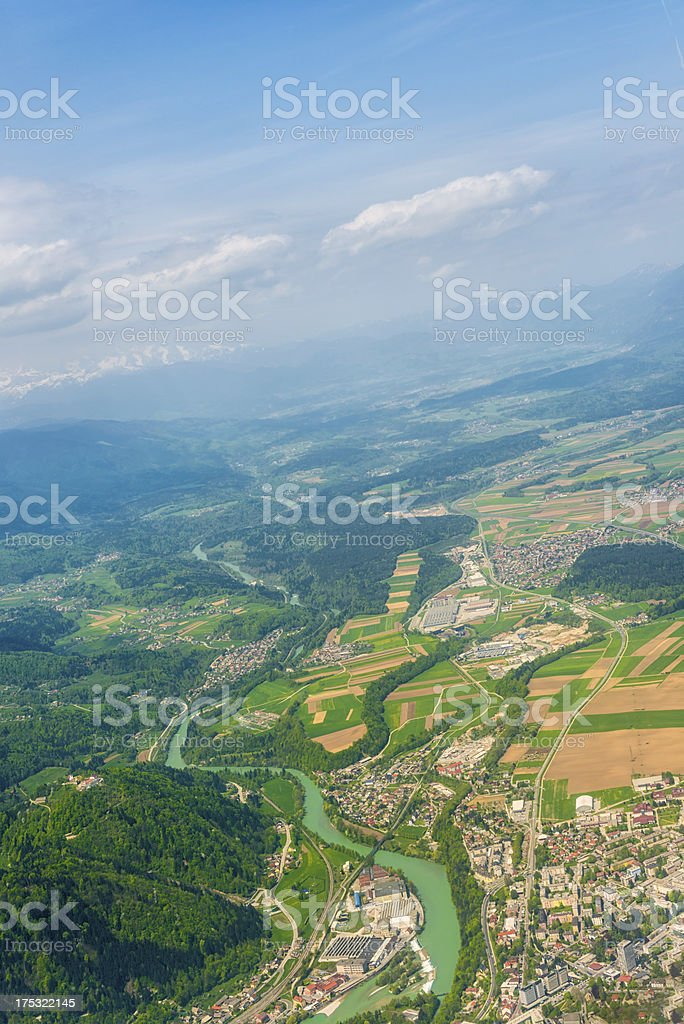 Aerial view of Tbilisi stock photo
