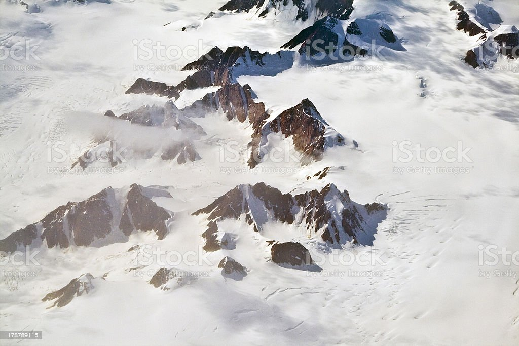 Aerial view of the antarctica royalty-free stock photo