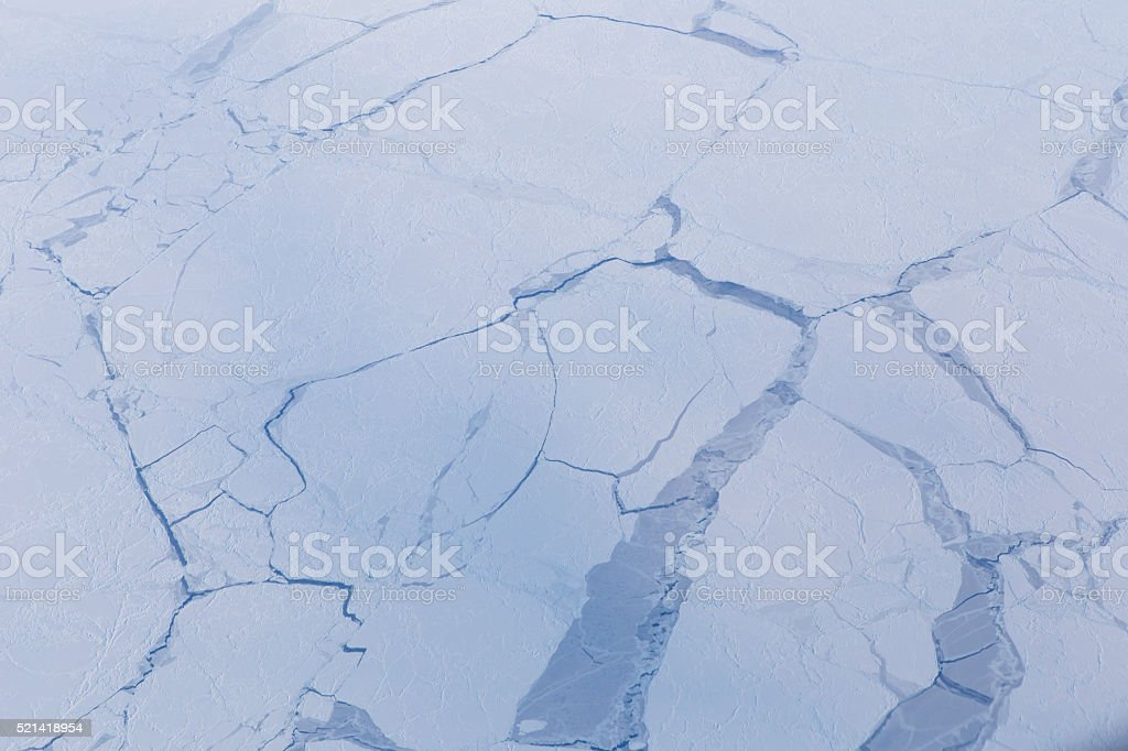 Aerial View of the Arctic Landscape stock photo