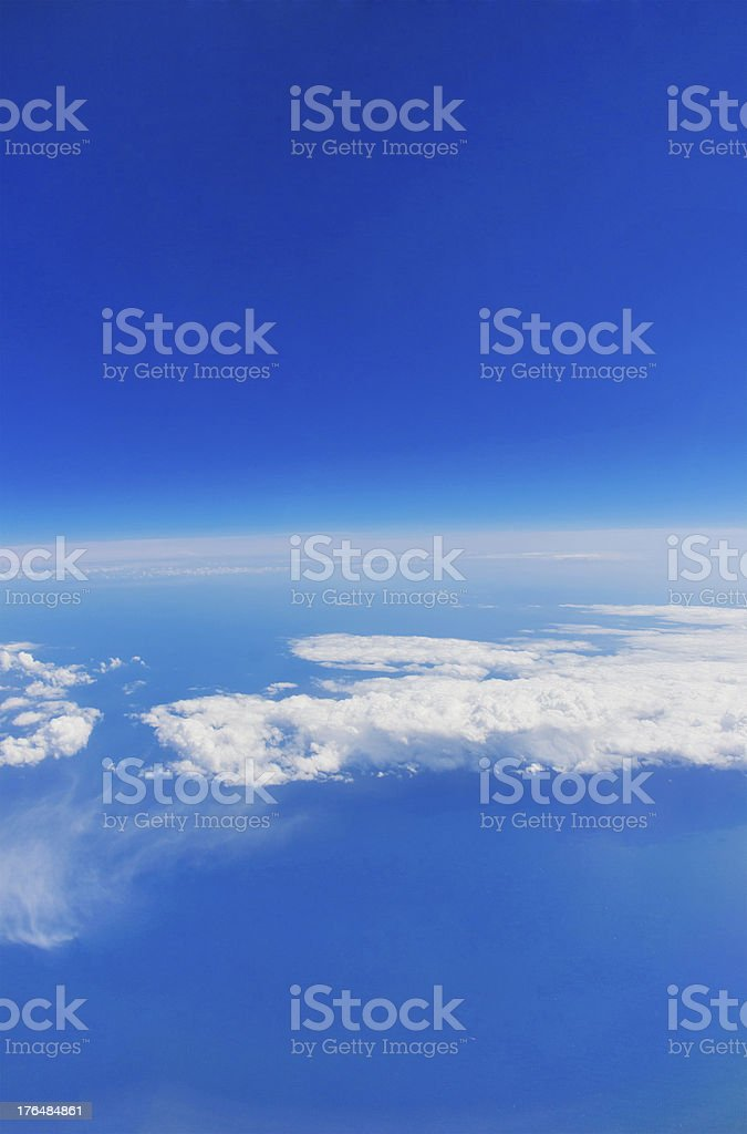 Aerial view of the blue sky royalty-free stock photo