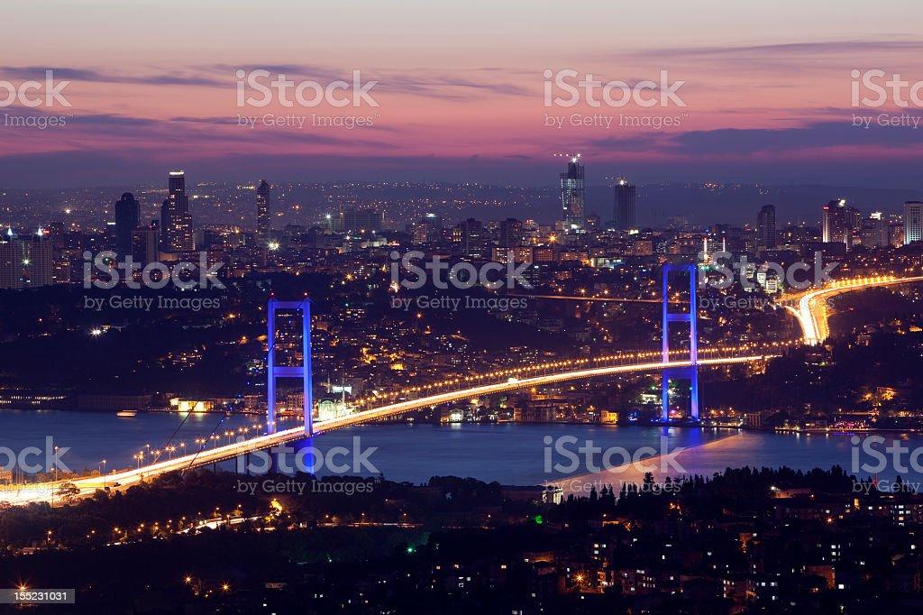Aerial view of the Bosphorus bridge  royalty-free stock photo