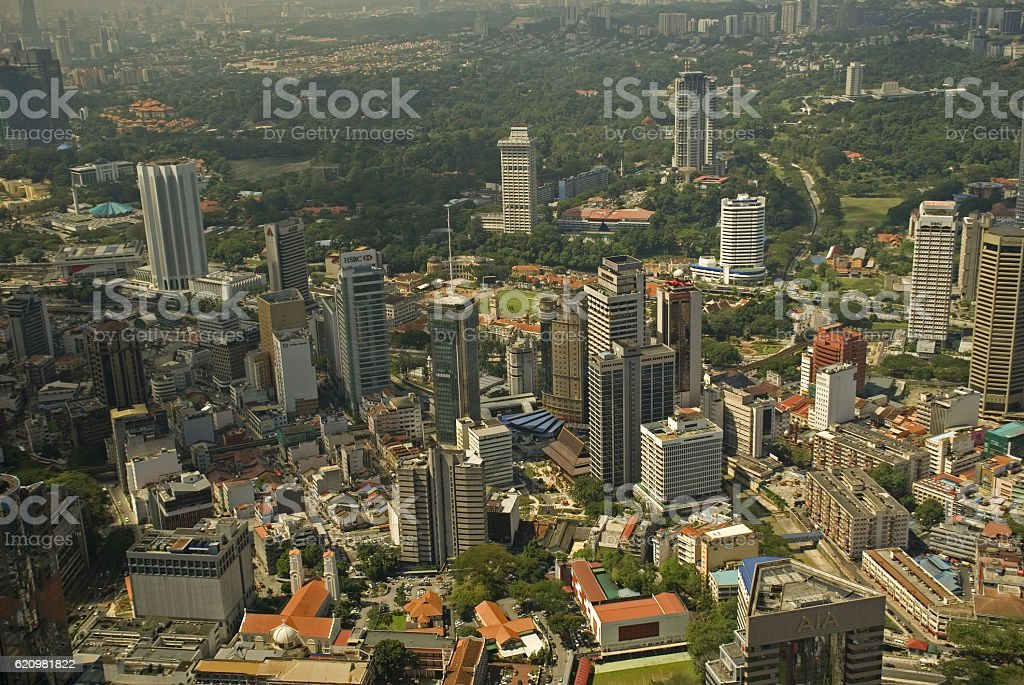 Aerial view of the city, Kuala Lumpur, Malaysia stock photo