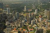 Aerial view of the city, Kuala Lumpur, Malaysia