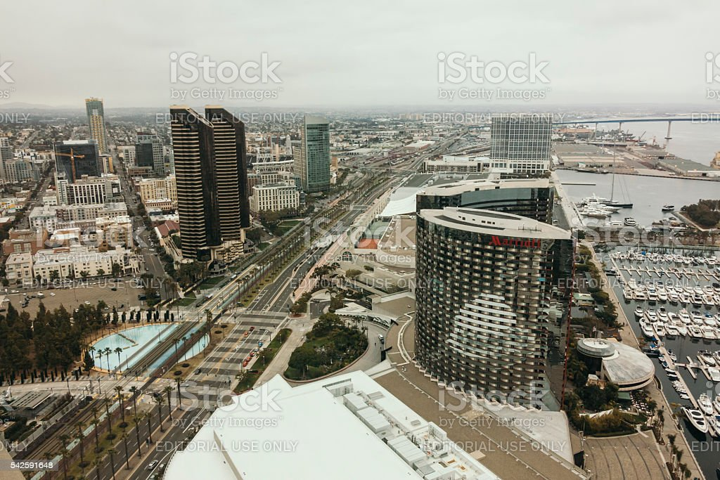 Aerial View of the Downtown San Diego stock photo
