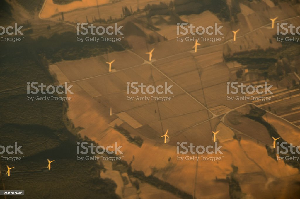 Aerial View of the Earth stock photo