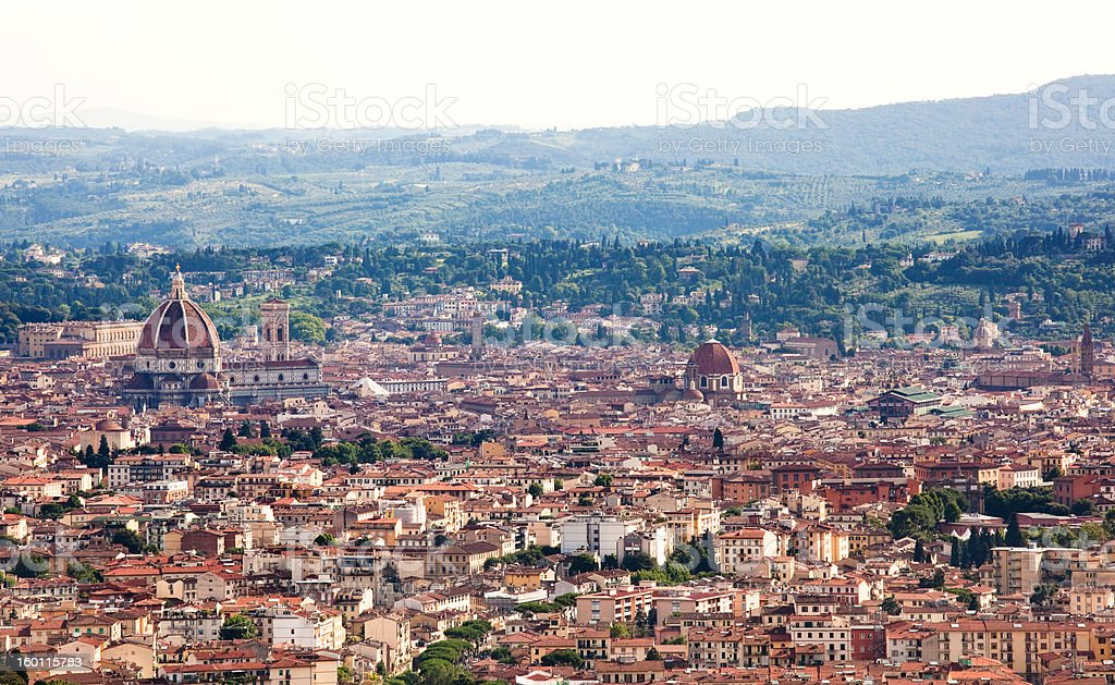 Aerial view of the Florence, Italy royalty-free stock photo