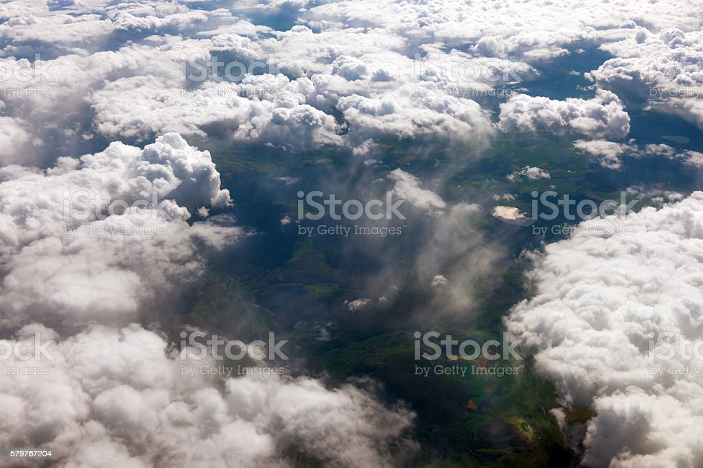 Aerial view of the French countryside before Paris,France stock photo