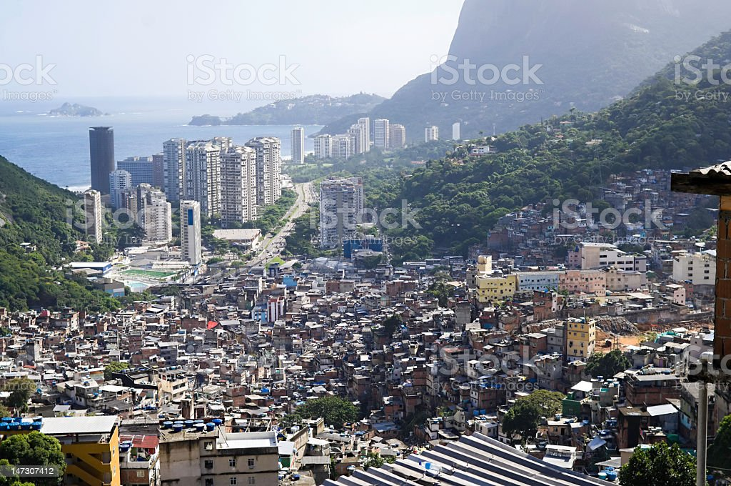 Aerial view of the landscape of Rocinha royalty-free stock photo