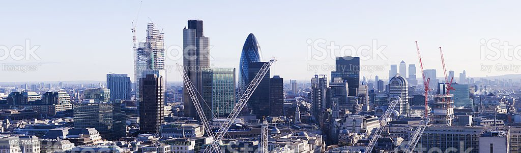 Aerial View of the London City Skyline UK royalty-free stock photo
