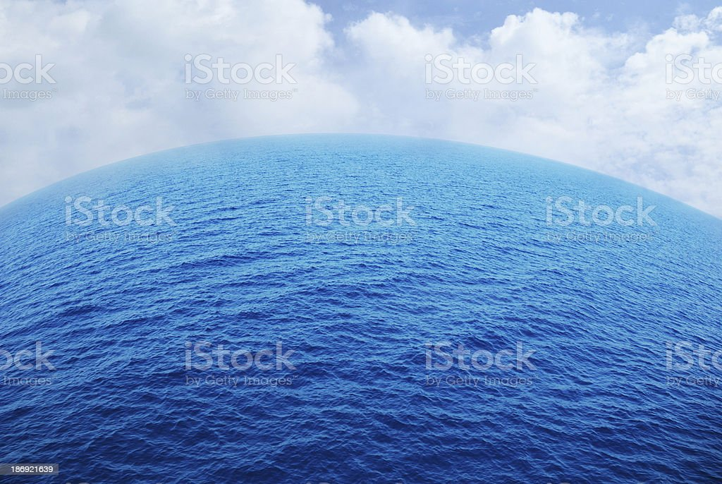 Aerial view of the ocean royalty-free stock photo