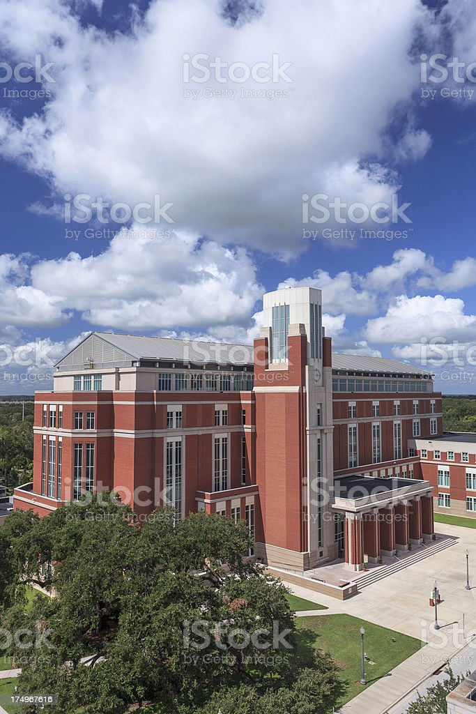 Aerial View of the Osceola County Courthouse royalty-free stock photo