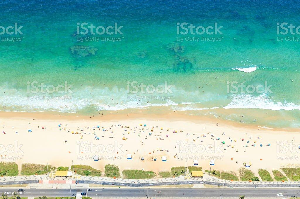 Aerial View of the Reserva Beach in Rio de Janeiro stock photo