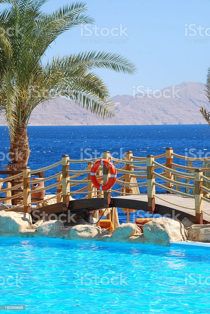 Aerial View of tiran island stock photo