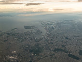 Aerial view of Tokyo Bay