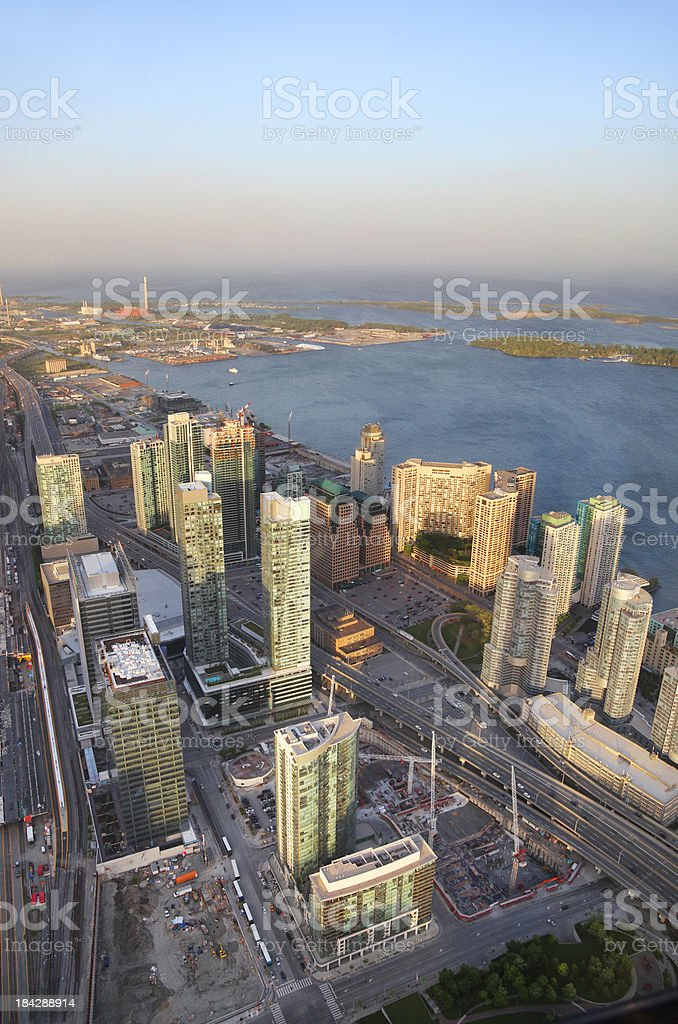 Aerial View of Toronto City Buildings stock photo
