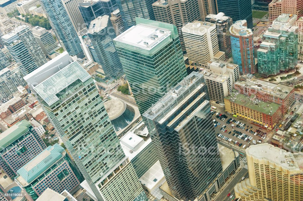 Aerial view of Toronto downtown. Ontario, Canada stock photo