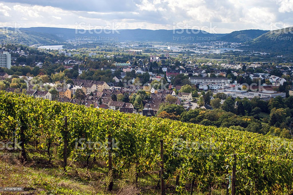 Aerial view of Trier stock photo