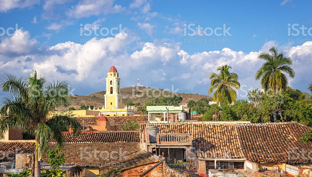 Aerial view of Trinidad, Cuba stock photo