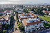 Aerial View of UC Berkeley Campus Buildings