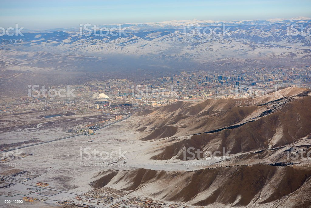 Aerial View of Ulaanbaatar stock photo