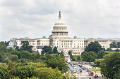 Aerial view of United States Congress