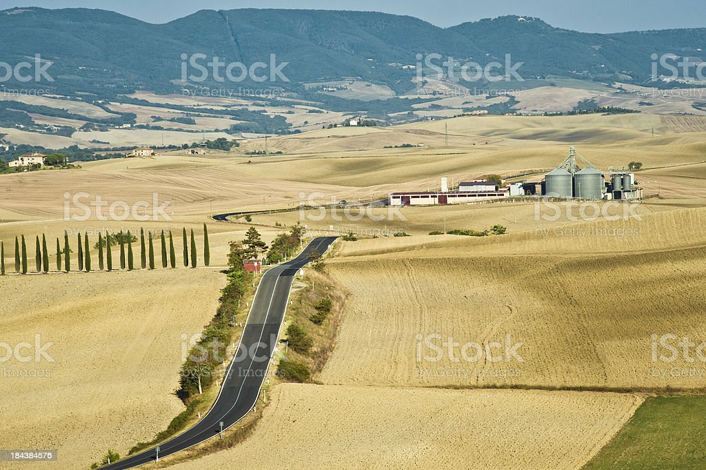 Aerial View Of Val D'Orcia, Tuscany stock photo