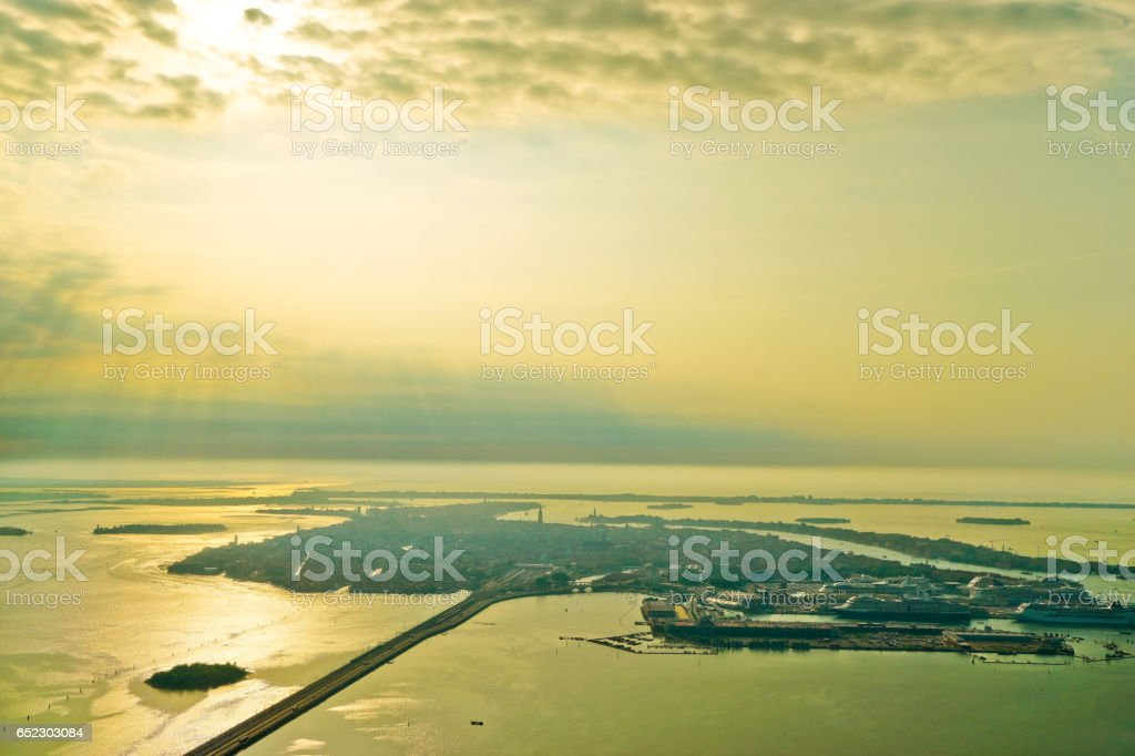 Aerial view of Venice stock photo