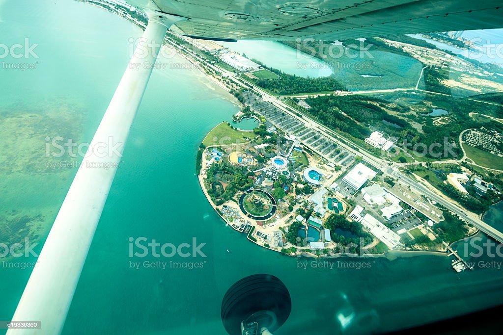 Aerial view of Viginia Key, Miami stock photo