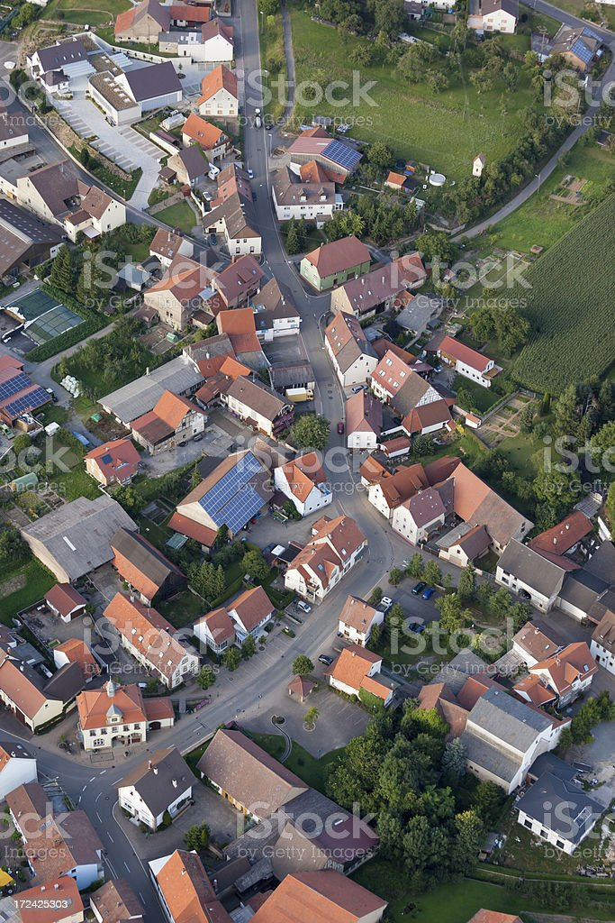 Aerial view of village Adelshofen near Eppingen in Germany royalty-free stock photo