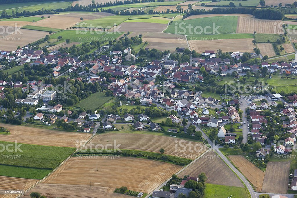 Aerial view of village Adelshofen near Eppingen in Germany stock photo