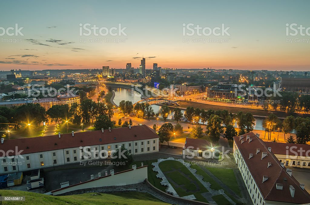 Aerial view of Vilnius, Lithuania stock photo