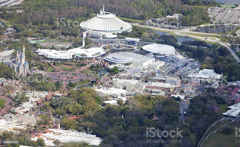 Aerial view of Walt Disney World stock photo