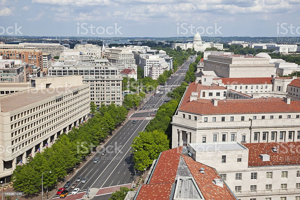 Aerial view of Washington DC # 3 XXXL royalty-free stock photo