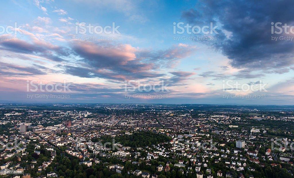 Aerial view of Wiesbaden stock photo