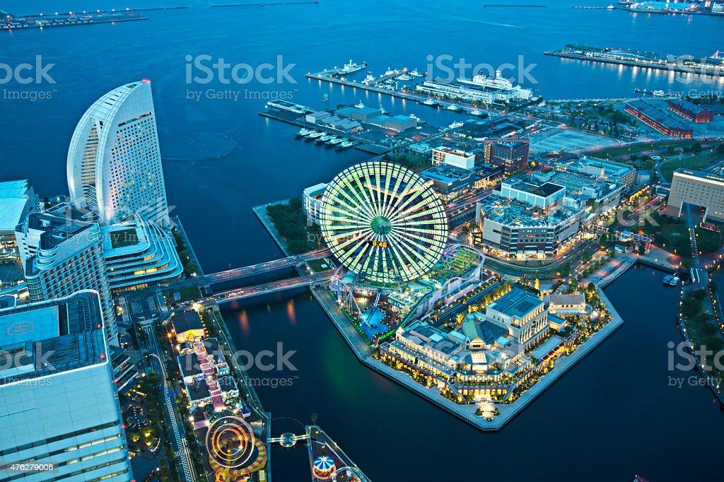Aerial view of Yokohama stock photo