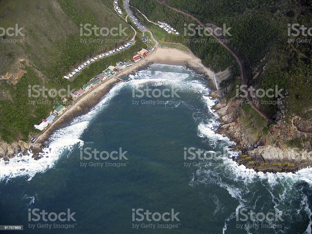 Aerial view of your dream holiday home royalty-free stock photo