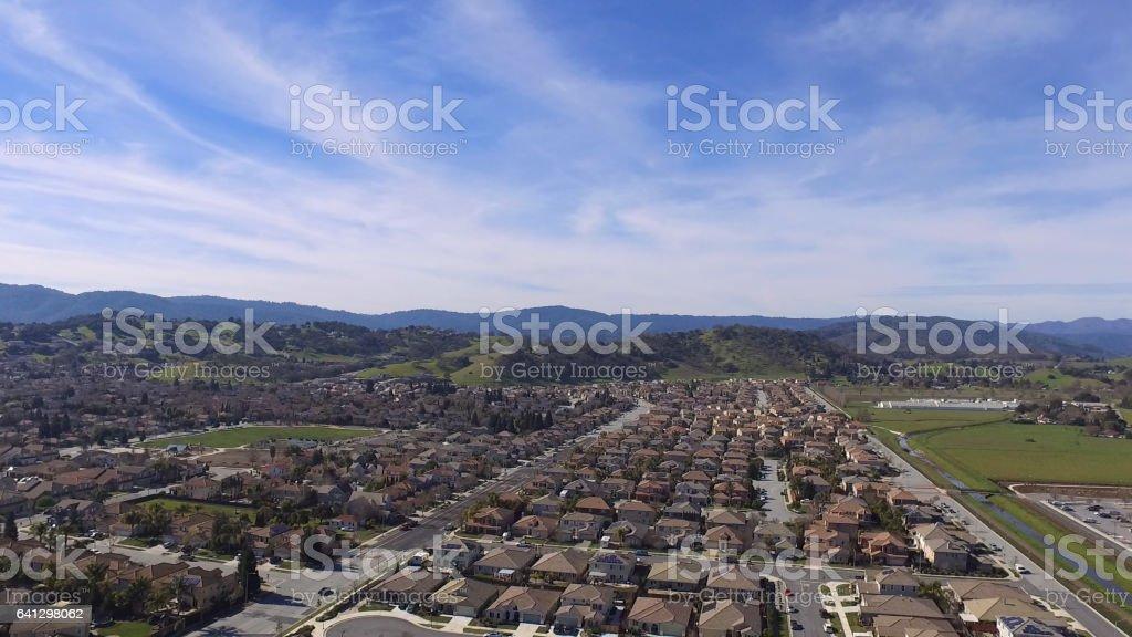 Aerial view ofGilroy,California stock photo