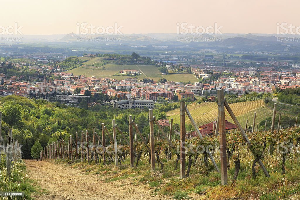 Aerial view on Alba from surrounding hills. royalty-free stock photo
